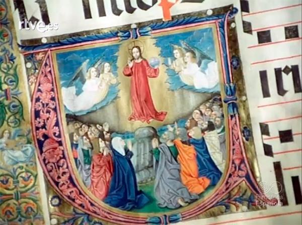 Ascension-de-Cristo-en-cantoral-del-Burgo-de-Osma